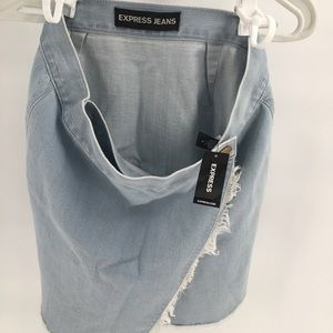 NWT Express Jeans Women Blue Denim Skirt 8